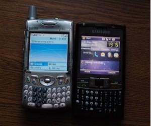 Samsung SGH-i780 ir Palm Treo 650