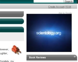 Slashdot reklamuoja scientologus