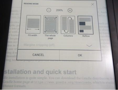Ribotos PDF teksto dydžio pasirinkimo galimybės